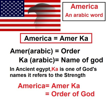 America meaning Arabic Word